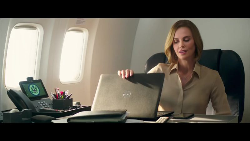 Dell Laptop Used by Charlize Theron in Long Shot (2019) Movie Product Placement