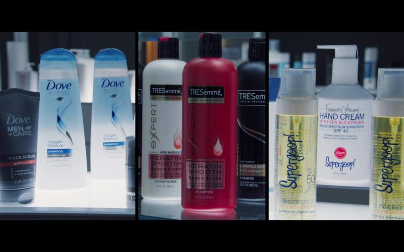 Dove Shampoos and Men's Face Scrub, TRESemmé Expert Hair Conditioner and Shampoo, Supergoop