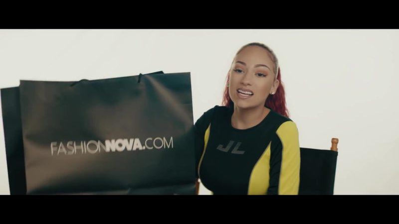 "FashionNova Online Store Black Paper Bag Held by Bhad Bhabie (Danielle Bregoli) in ""Bestie"" ft. Kodak Black (2019) Official Music Video"