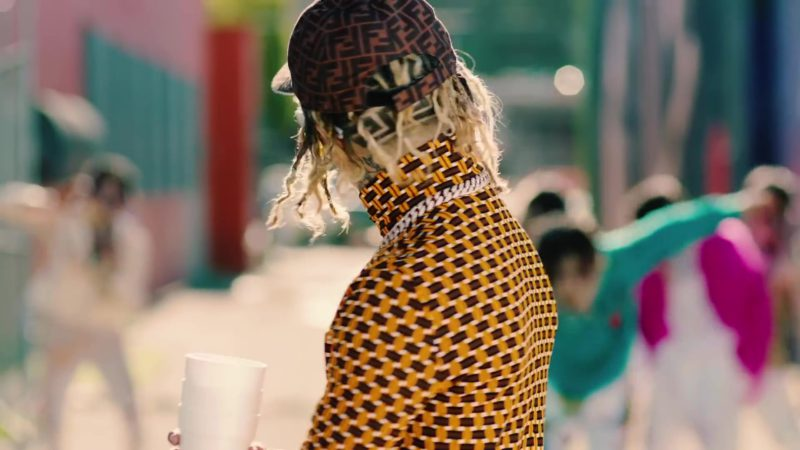 "Fendi Cap Worn by Lil Pump in ""Be Like Me"" (2019) Official Music Video Product Placement"