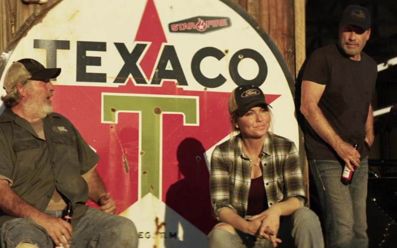 Ford Cap Worn by Shania Twain & Texaco Sign in Trading Paint