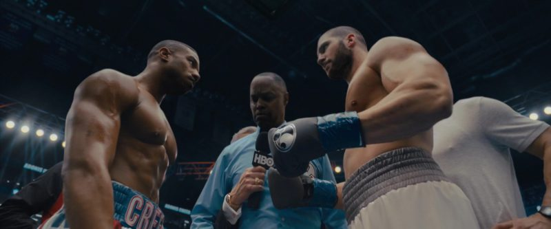 Grant Boxing Black Gloves Worn by Florian Munteanu in Creed 2 (2018) - Movie Product Placement
