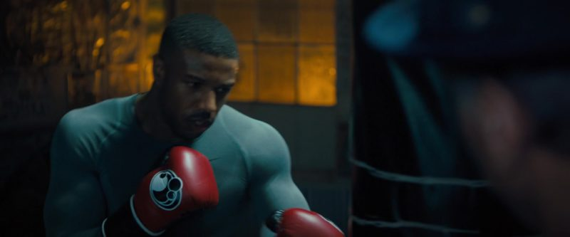 Grant Red Boxing Gloves Worn by Michael B. Jordan in Creed 2 (2018) Movie Product Placement