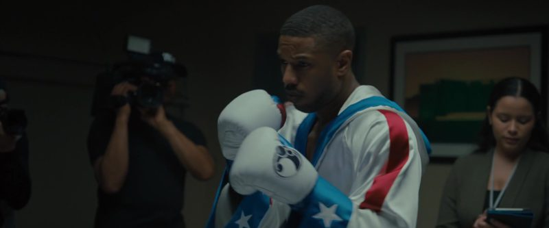 Grant White Boxing Gloves Worn by Michael B. Jordan in Creed 2 (2018) Movie Product Placement