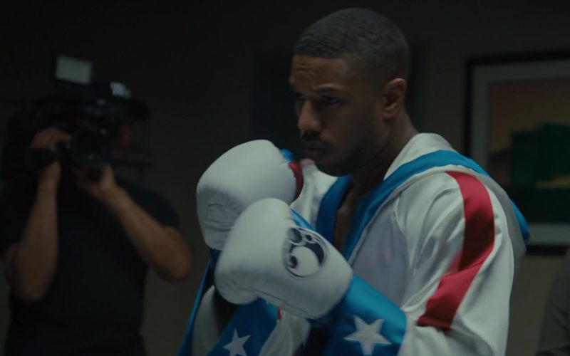 Grant White Boxing Gloves Worn by Michael B. Jordan in Creed 2 (1)