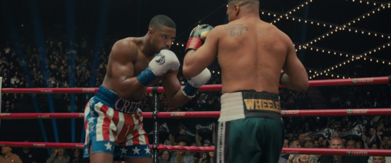 Grant White Boxing Gloves Worn by Michael B. Jordan in Creed 2 (2018) - Movie Product Placement
