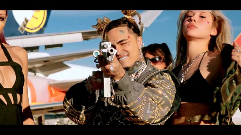 Gucci Sweater Worn by Lil Pump in Racks on Racks (2019) - Official Music Video Product Placement