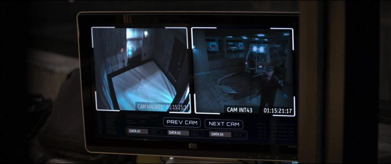 HP Monitor in The Possession of Hannah Grace (2018) Movie Product Placement