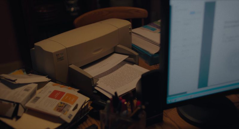 HP Printer in Viper Club (2018) - Movie Product Placement