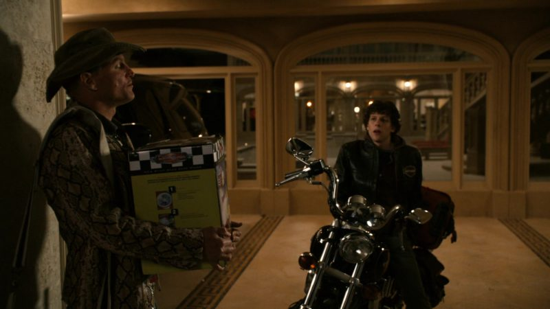 Harley-Davidson Jacket Worn by Jesse Eisenberg in Zombieland (2009) Movie Product Placement