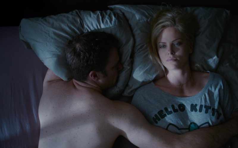 Hello Kitty Grey T-Shirt Worn by Charlize Theron in Young Adult ( (1)