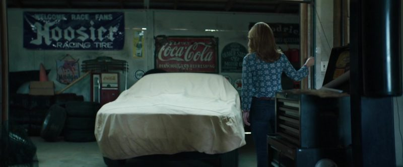 Hoosier Racing Tire and Coca-Cola Signs in Trading Paint (2019) - Movie Product Placement