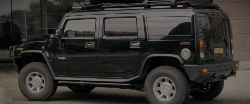 Hummer H2 Black SUV in G.I. Joe: The Rise of Cobra (2009) Movie