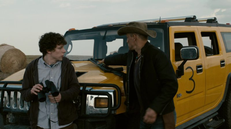 Hummer H2 Yellow SUV in Zombieland (2009) Movie Product Placement