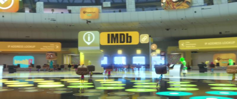 IMDB in Ralph Breaks the Internet (2018) Animation Movie Product Placement
