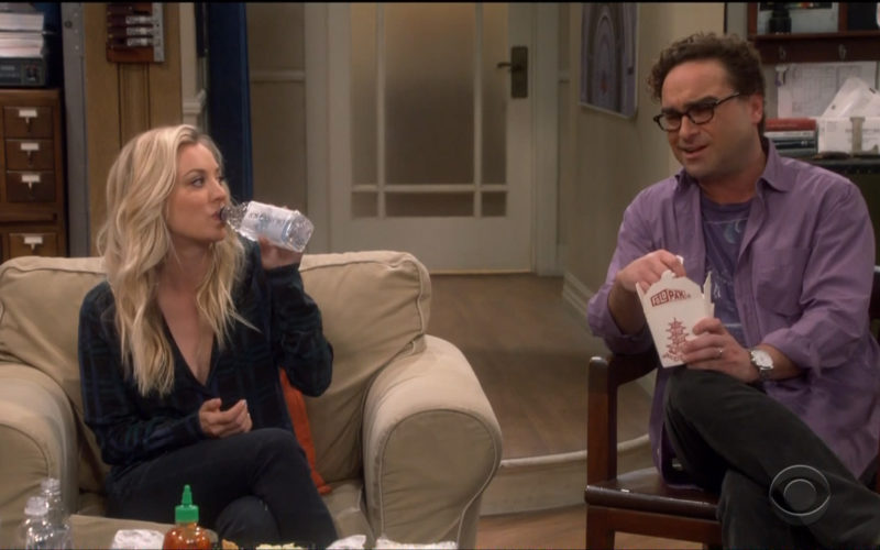 Icelandic Glacial Bottle Held by Kaley Cuoco (Penny) in The Big Bang Theory