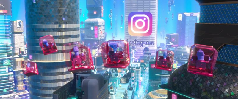 Instagram Social Network Building & Office in Ralph Breaks the Internet (2018) - Animation Movie Product Placement