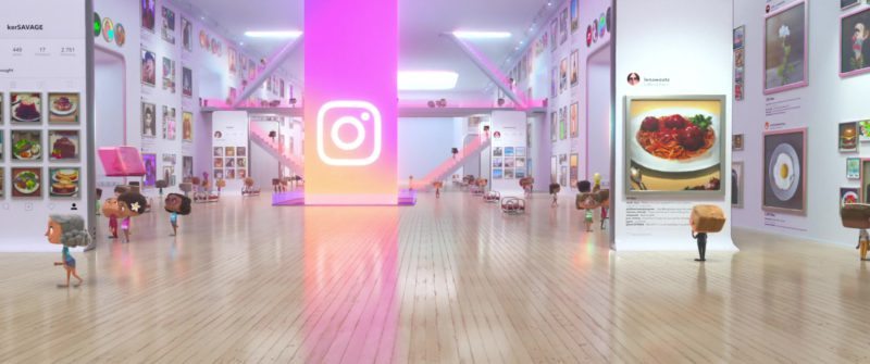 Instagram Social Network Building & Office in Ralph Breaks the Internet (2018) Animation Movie Product Placement