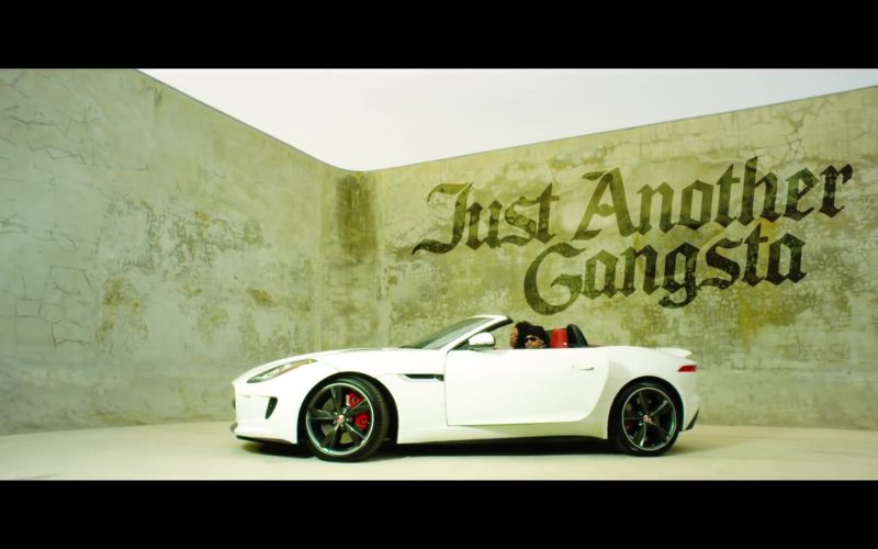 Jaguar F-TYPE R Convertible White Car in Just Another Gangsta by Birdman ft. Juvenile (1)