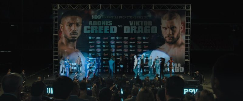 Jersey Mike's Subs, Tecate, HBO PPV, Barclays Center in Creed 2 (2018) Movie Product Placement