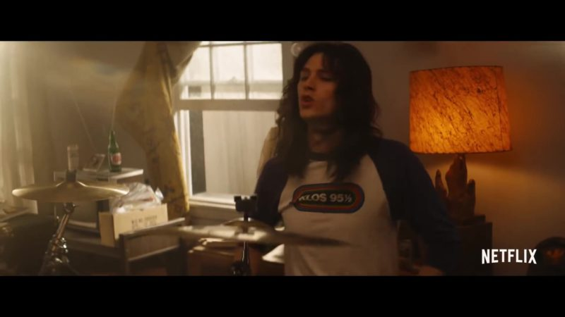 KLOS-FM 95.5 The Rock of Southern California Long Sleeve Tee in The Dirt (2019) Movie Product Placement