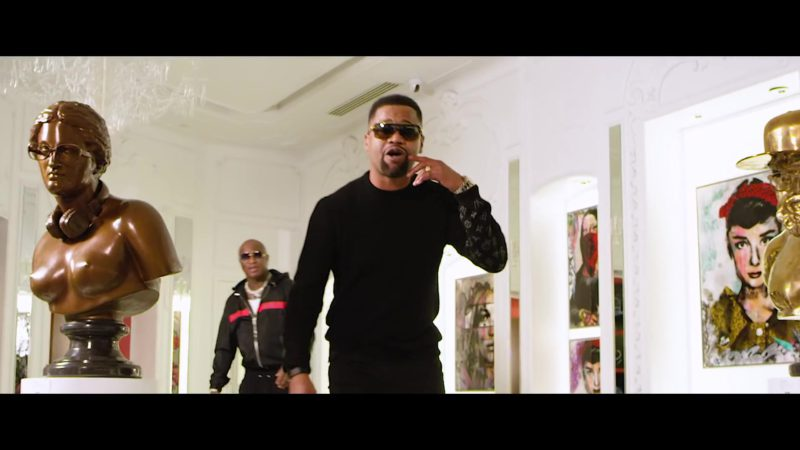 """LV Sweatshirt (Black) Worn by Worn by Juvenile in """"Just Another Gangsta"""" (2019) - Official Music Video Product Placement"""