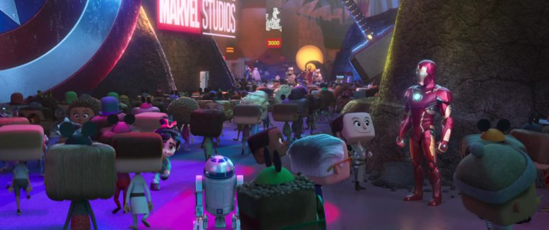 Marvel Studios Sign in Ralph Breaks the Internet (2018) - Animation Movie Product Placement