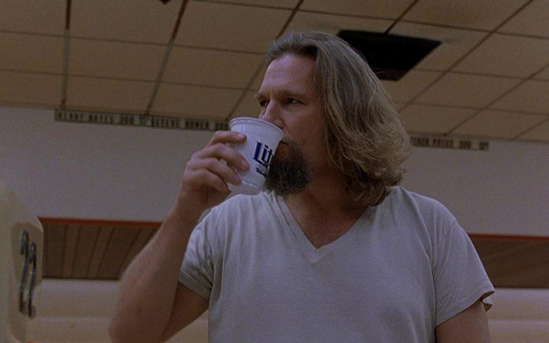 Miller Lite Beer Drunk by Jeff Bridges (The Dude) in The Big Lebowski (1)