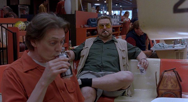 Miller Lite Beer Drunk by John Goodman in The Big Lebowski (1998) Movie