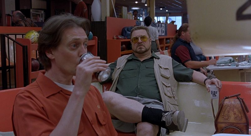 Miller Lite Beer Drunk by John Goodman in The Big Lebowski (1998) - Movie Product Placement