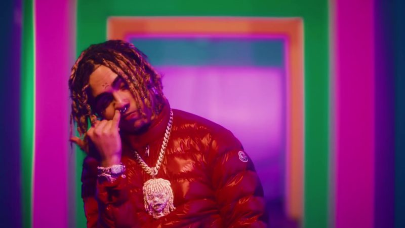 Moncler Men's Red Jacket Worn by Lil Pump in Be Like Me (2019) Official Music Video Product Placement