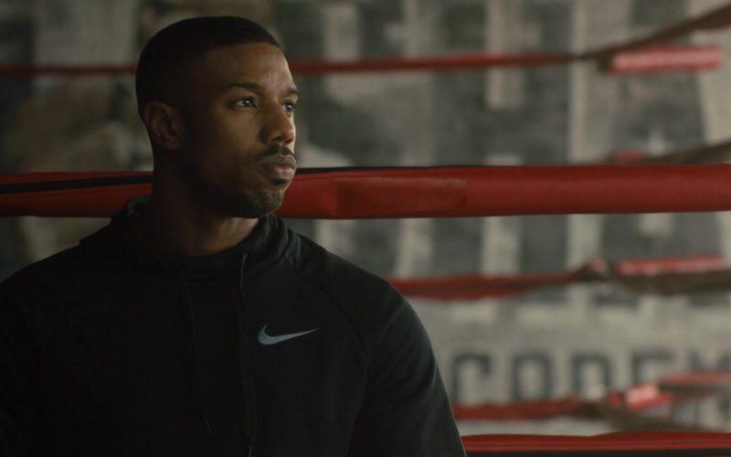 Nike Black Hoodie Worn by Michael B. Jordan in Creed 2 (3)