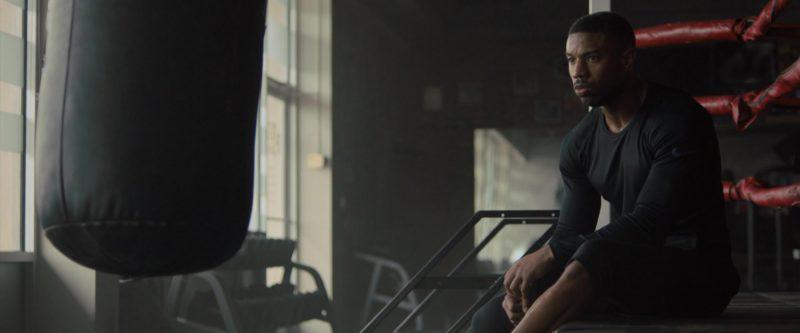 Nike Black Long Sleeve Top Worn by Michael B. Jordan in Creed 2 (2018) - Movie Product Placement
