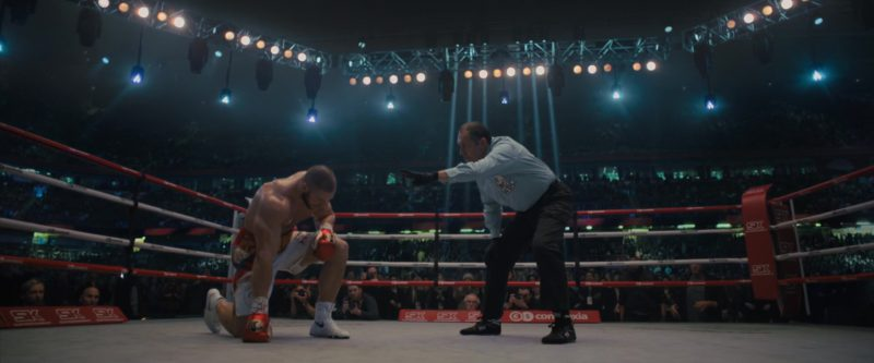 Nike Boxing Shoes Worn by Florian Munteanu and Title Boxing Shoes Worn by Referee in Creed 2 (2018) - Movie Product Placement
