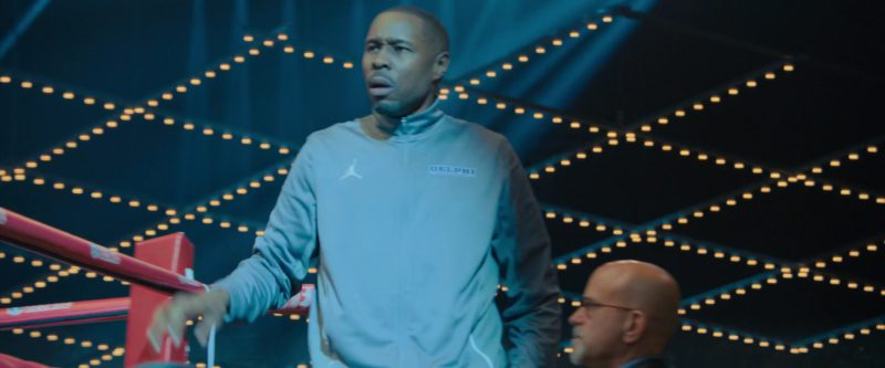 Nike Jordan Grey Jacket Worn by Wood Harris in Creed 2 (2018) - Movie Product Placement
