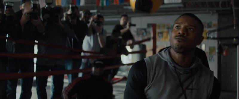 Nike Vest Hoodie Worn by Michael B. Jordan in Creed 2 (2018) Movie Product Placement