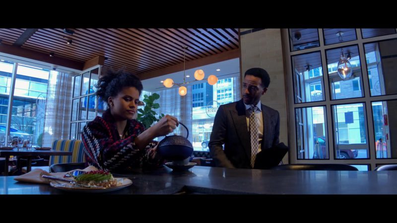 Ousia Greek-Focused Mediterranean Restaurant (NYC) in High Flying Bird (2019) - Movie Product Placement