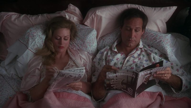 People Magazine Held by Chevy Chase and Wade's Wintergreen Gum AD in National Lampoon's Vacation (1983) Movie Product Placement