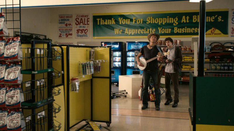 Pepsi and Aquafina Vending Machines in Zombieland (2009) Movie Product Placement