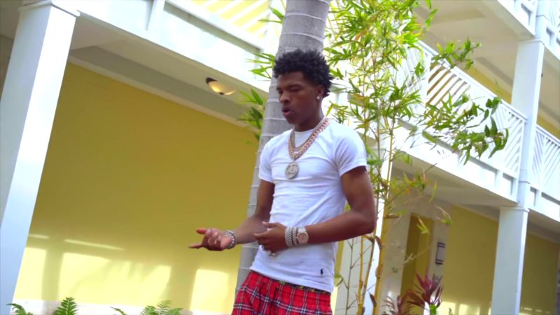 Ralph Lauren White Tee Worn by Lil Baby in Global (2019) Official Music Video Product Placement