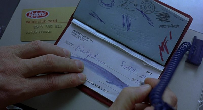 Ralphs Supermarket Value Club Card in The Big Lebowski (1998) - Movie Product Placement