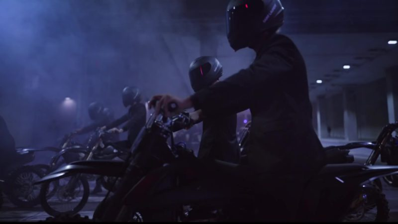 Saint Laurent Motorcycle Helmets in Can't Say by Travis Scott (2019) Official Music Video Product Placement
