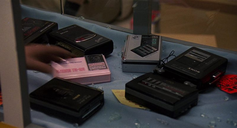 Sanyo, AIWA and Sony Portable Tape Recorders in RoboCop 2 (1990) - Movie Product Placement