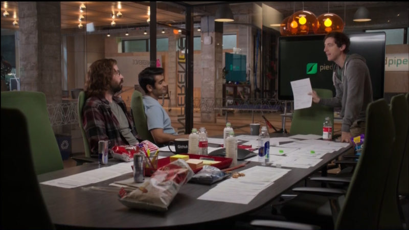 Harmless Harvest, SmartWater, Tim's, Vitamin Water in Silicon Valley TV Show Product Placement