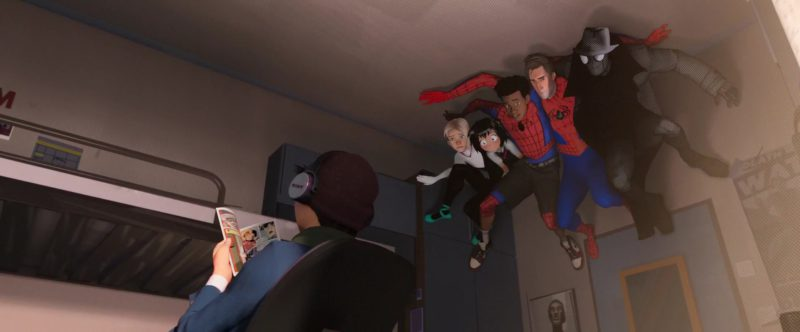 Sony Wireless Headphones in Spider-Man: Into the Spider-Verse (2018) Animation Movie Product Placement