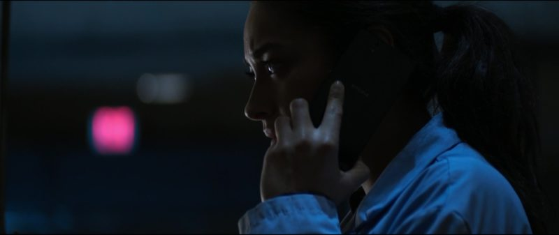 Sony Xperia Android Smartphone Used by Shay Mitchell in The Possession of Hannah Grace (2018) Movie Product Placement