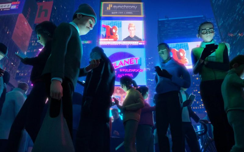 Synchrony Bank Billboard in Spider-Man Into the Spider-Verse
