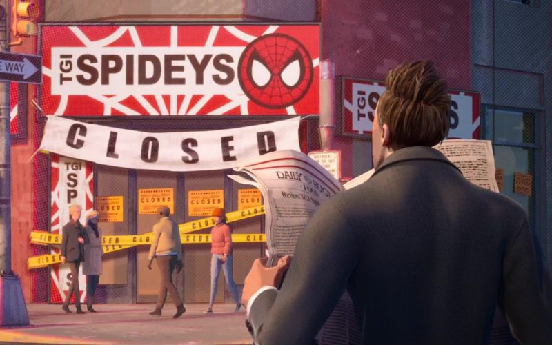 TGI Spideys (T.G.I. Friday's) in Spider-Man Into the Spider-Verse