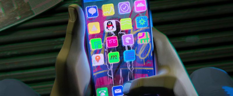Tencent QQ Messenger Used by Miles Morales in Spider-Man: Into the Spider-Verse (2018) Animation Movie Product Placement