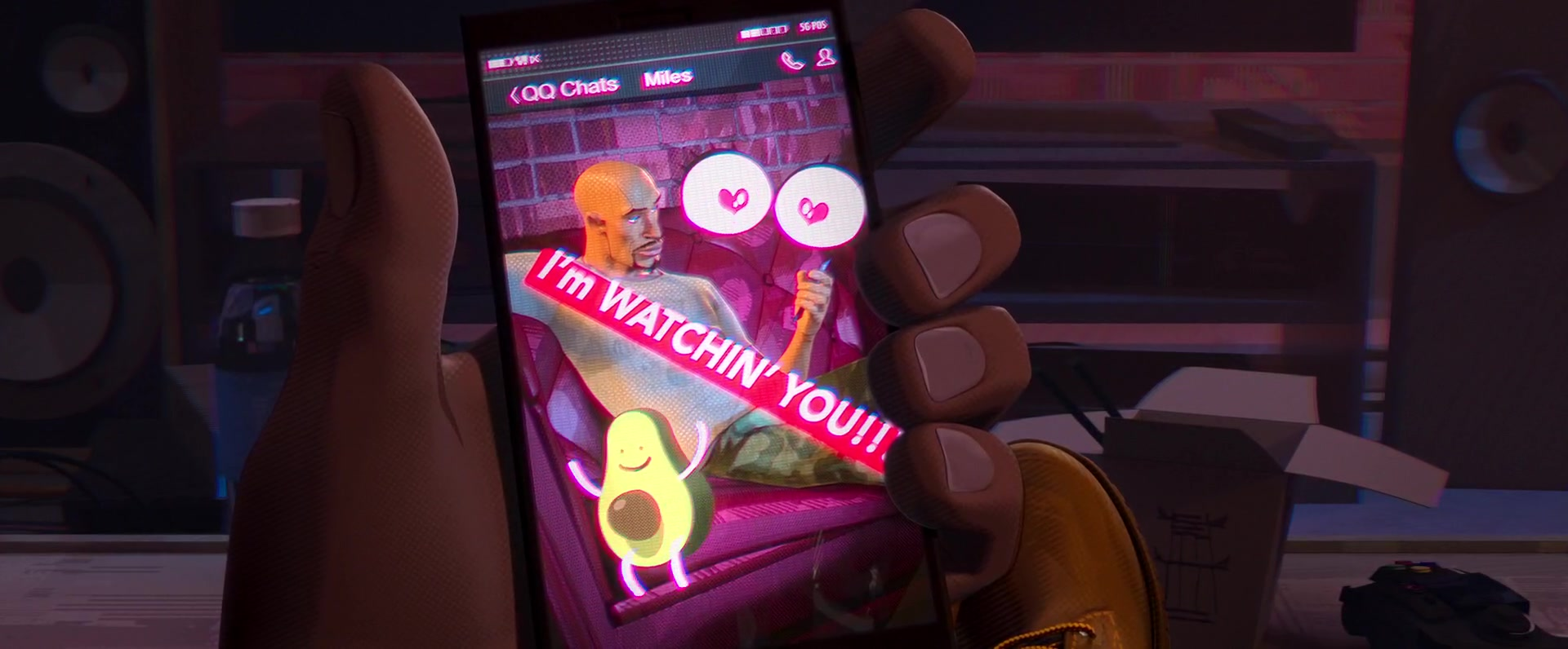 Tencent QQ Messenger in Spider-Man: Into the Spider-Verse (2018